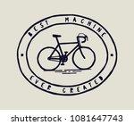 bicycle print   best machine... | Shutterstock .eps vector #1081647743