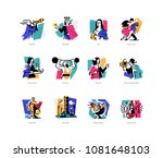 a set of icons on the theme of... | Shutterstock .eps vector #1081648103