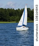 sailing on the mazury lakes | Shutterstock . vector #108164843