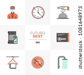 modern flat icons set of hotel...   Shutterstock .eps vector #1081648973