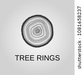 tree rings icon. tree rings... | Shutterstock .eps vector #1081658237