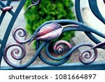 beautiful decorative forged... | Shutterstock . vector #1081664897