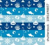 seamless pattern with fish.... | Shutterstock .eps vector #1081698857