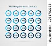 percentage vector infographics. ... | Shutterstock .eps vector #1081702133