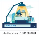 education online training... | Shutterstock .eps vector #1081707323