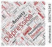 vector conceptual depression or ... | Shutterstock .eps vector #1081741343