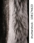 Black, gray and white fur background - stock photo