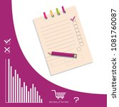 check list with a pencil and... | Shutterstock .eps vector #1081760087