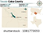 detailed map of coke county in... | Shutterstock .eps vector #1081773053