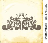 retro baroque decorations... | Shutterstock .eps vector #1081780607