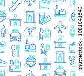 airport seamless pattern with... | Shutterstock .eps vector #1081841543