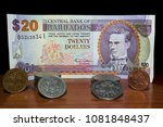 Barbados Dollars Note And Coins