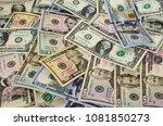 us dollars of different... | Shutterstock . vector #1081850273