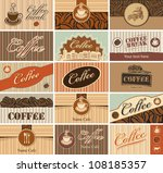 set of business cards on the... | Shutterstock .eps vector #108185357