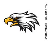 furious eagle head logo mascot... | Shutterstock .eps vector #1081856747