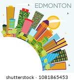 edmonton city skyline with... | Shutterstock .eps vector #1081865453