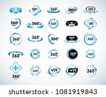 360 degrees view vector icons... | Shutterstock .eps vector #1081919843