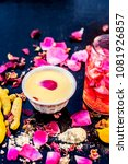 ayurvedic face pack to reduce... | Shutterstock . vector #1081926857