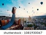 young beautiful woman wearing...   Shutterstock . vector #1081930067