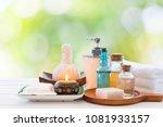 set of spa treatment on white... | Shutterstock . vector #1081933157