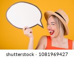 adorable smiling friendly...   Shutterstock . vector #1081969427