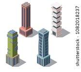 vector set of isometric modern... | Shutterstock .eps vector #1082018237
