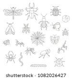 vector set of black and white... | Shutterstock .eps vector #1082026427