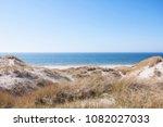 beautiful coastline of blaavand ...   Shutterstock . vector #1082027033