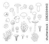 vector set of black and white...   Shutterstock .eps vector #1082034443