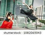 two beautiful young girls...   Shutterstock . vector #1082065043