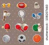 sport objects stickers | Shutterstock .eps vector #108207683