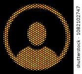 halftone hexagon rounded user...   Shutterstock .eps vector #1082102747
