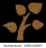 halftone hexagon flora plant...   Shutterstock .eps vector #1082120837