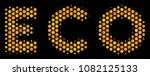halftone hexagonal eco text... | Shutterstock .eps vector #1082125133