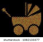 halftone hexagonal baby... | Shutterstock .eps vector #1082133377