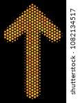 halftone hexagonal arrow... | Shutterstock .eps vector #1082134517