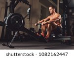 handsome muscular fitness male... | Shutterstock . vector #1082162447
