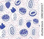 cartoon doodle seamless pattern ... | Shutterstock .eps vector #1082181017