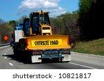 oversize load of bulldozer is...   Shutterstock . vector #10821817