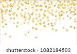 gold confetti. texture with... | Shutterstock .eps vector #1082184503