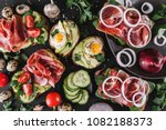 various of sandwiches and... | Shutterstock . vector #1082188373