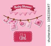 baby shower celebration | Shutterstock .eps vector #1082200697