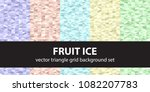 triangle pattern set fruit ice. ... | Shutterstock .eps vector #1082207783