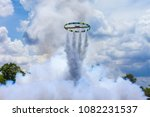 ancient style rocket launching... | Shutterstock . vector #1082231537