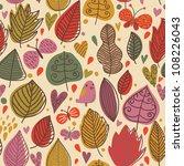 autumn floral seamless pattern... | Shutterstock .eps vector #108226043