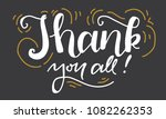 thank you. hand lettering for... | Shutterstock .eps vector #1082262353