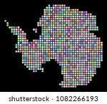 dotted antarctica map. vector...   Shutterstock .eps vector #1082266193