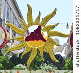 Small photo of Acireale (CT), Italy - 29 April 2018: detail of a flowery float depicting various characters of fantasy during the parade of the flowers festival along the streets of Acireale.