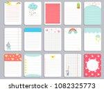 kids notebook page template... | Shutterstock .eps vector #1082325773