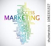web marketing word cloud... | Shutterstock .eps vector #1082331527